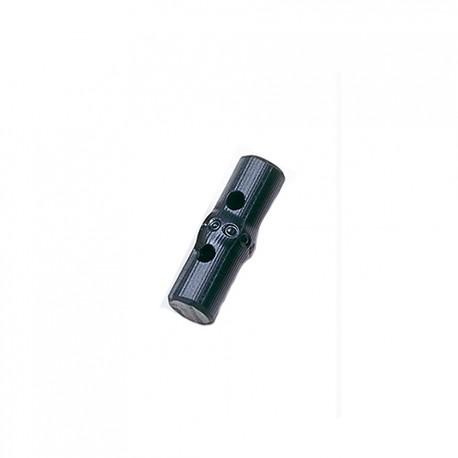 Hamanaka bamboo-type button, 1x3.3 cm, black