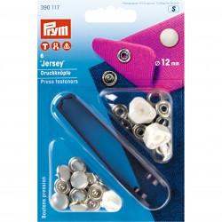 Prym Jersey non-sew press fastener, pearl cap, 12 mm
