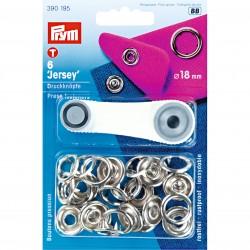 Prym Jersey non-sew press fastener, 18 mm, silver-coloured