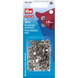 Prym Mini non-sew press fasteners refill, 8 mm, silver-coloured