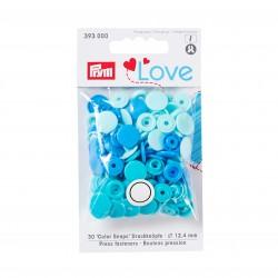 Color snap fastener, Prym Love, plastic, 12.4 mm, blue