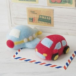 Hamanaka felting set 'Car & Plane'