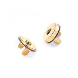 Hamanaka magnetic press fastener, 18 mm, gold
