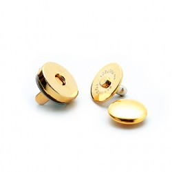 Hamanaka magnetic press fastener, 14 mm, gold