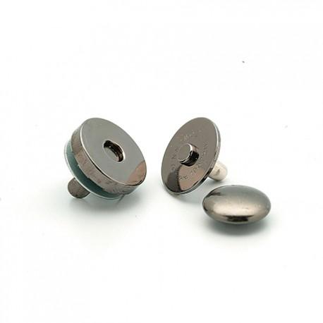 Hamanaka magnetic press fastener, 14 mm, black metal