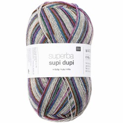 Rico Sock Superba Supi Dupi - 001 Purple Mix