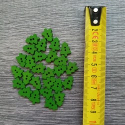 Set of wooden buttons, tree, green
