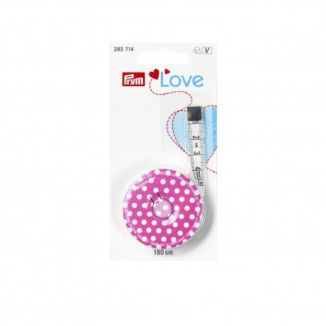 Prym Love Spring Tape Measure, pink