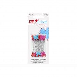 Prym Love plastic-headed pins, 50 pcs