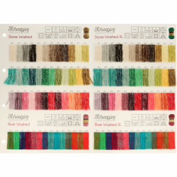 Scheepjes Stone Washed -XL - River Washed -XL colour card