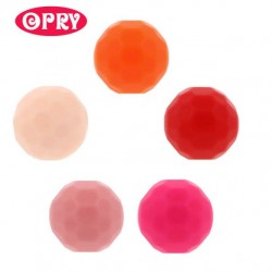 Opry Silicone beads faceted 16mm, 5pcs, AST2