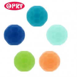 Opry Silicone beads faceted 16mm, 5pcs, AST3