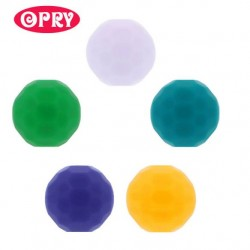 Opry Silicone beads faceted 16mm, 5pcs, AST4