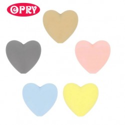 Opry Silicone beads heart 19x20mm, 5pcs, AST1