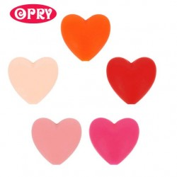 Opry Silicone beads heart 19x20mm, 5pcs, AST2