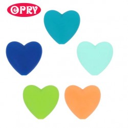 Opry Silicone beads heart 19x20mm, 5pcs, AST3