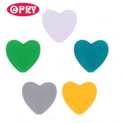 Opry Silicone beads heart 19x20mm, 5pcs, AST4