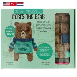 Tuva Amigurumi Crochet Kit - 001 Boris the Bear