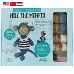 Набор для вязания амигуруми Tuva - 004 Milo the Monkey