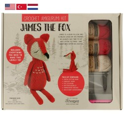 Tuva Amigurumi Crochet Kit - 007 James the Fox