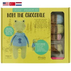 Tuva Amigurumi Crochet Kit - 010 Kobi the Crocodile
