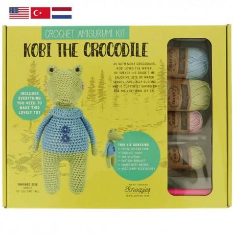 Tuva Amigurumi Crochet Kit - 010 Kobi the Crocodile