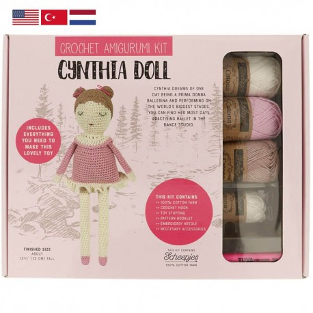 Tuva Amigurumi Crochet Kit - 011 Cynthia Doll
