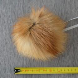 Помпон из меха лисы 15 см