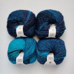 Rico Creative Melange Chunky - 010 Turquoise-Blue