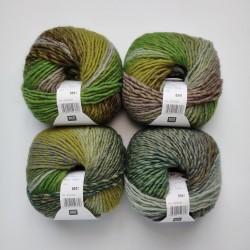 Rico Creative Melange Chunky - 045 Grass Green-Lilac