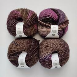 Rico Creative Melange Chunky - 051 Purple-Brown