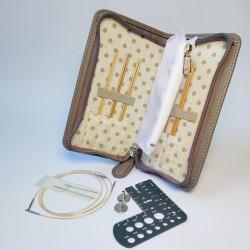 Tulip carryC Fine Gauge Long Interchangeable Bamboo Knitting Needle Set