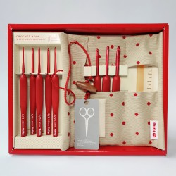 Tulip ETIMO Red Crochet Hook Set