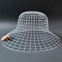 Hamanaka Mesh for Hat, 58 cm, white