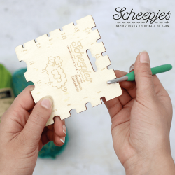 Шкала для определения размера крючка Scheepjes