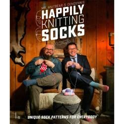 Happily knitting socks - DenDennis and Mr. Knitbear