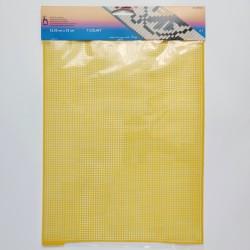Pony plastic canvas 32.5 × 25 cm, yellow