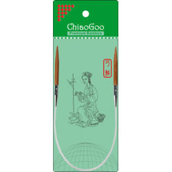 "ChiaoGoo Bamboo Circulars - 16"" (40 cm), Patina"
