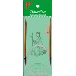 "ChiaoGoo Bamboo Circulars - 40"" (100 cm), Patina"
