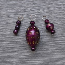 KnitPro ZOONI Stitch Markers Plum Passion - Brass