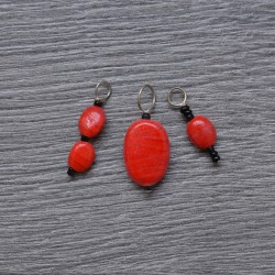KnitPro ZOONI Stitch Markers Real Red