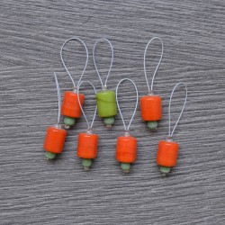 KnitPro ZOONI Stitch Markers Orange Lily