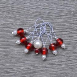 KnitPro ZOONI Stitch Markers Amaranth
