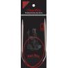 "ChiaoGoo SS Knit RED Circulars - 40"" (100 cm)"