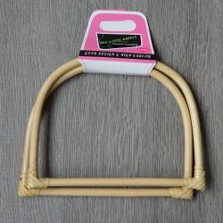 Opry bamboo bag handle, 17.5 cm