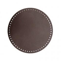 Кожаное дно для сумок Hamanaka (большое/темно-коричневое)