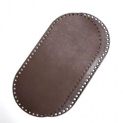 Hamanaka faux-leather bag sole (dark brown)