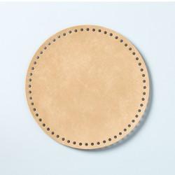 Hamanaka faux-leather bag sole (large/beige)