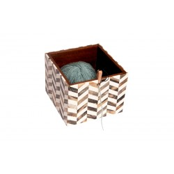 KnitPro Wooden Yarn Box Pearly