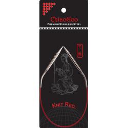 "ChiaoGoo SS Knit RED Circulars - 12"" (30 cm)"